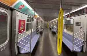 New York subway desolate as US coronavirus cases climb