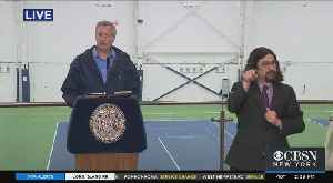 Coronavirus Update: Mayor De Blasio Talks From USTA Billie Jean King Tennis Center [Video]