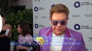 Sir Elton John's 'Living Room Concert for America' Raised $8 Million [Video]