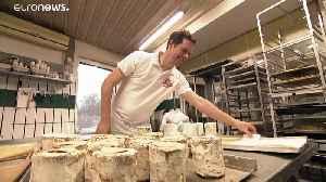 German baker makes toilet paper cakes in satirical poke at COVID-19 panic-buyers [Video]