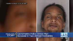 Police Arrest Man Accused In Two Armed Robberies [Video]