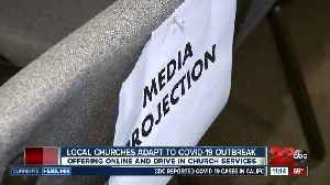 Local churches adapt to COVID-19 outbreak by offering online or drive-in church services [Video]