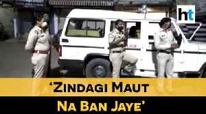 Watch: Bhopal cop sings 'Zindagi Maut Na Ban Jaye' to spread awareness [Video]