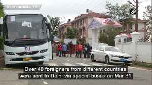 COVID-19 Foreigners from different countries sent to Delhi amid nationwide lockdown [Video]