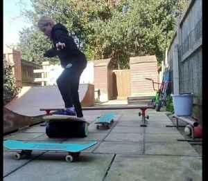 10-year-old wins skateboard title in her back garden [Video]