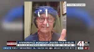Hammerspace Workshop creates face shields [Video]