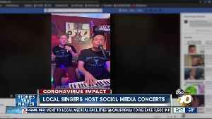 Local singers host social media happy hour concerts [Video]