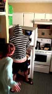 Guy's Reverse Hoodie Prank Backfires When Girlfriend Smacks His Crotch [Video]
