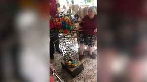 Care home recreates giant game of Kerplunk to lift morale in isolation [Video]