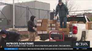 Patriots Donate To Food Pantries And Homeless Shelters [Video]