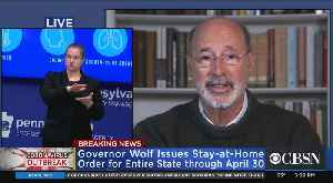 Pennsylvania Gov. Tom Wolf Extends Stay-At-Home Order For Entire State [Video]