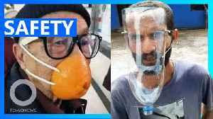 Coronavirus: Shoppers take 'creative' precautions [Video]