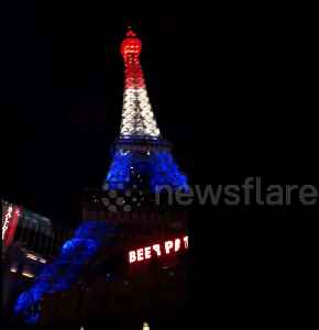 Eiffel Tower replica in Las Vegas lights up to honour healthcare workers [Video]