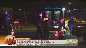 Chase Involving Stolen Vehicle Ends In 2 Officer-Involved Shootings In Vacaville [Video]