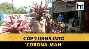 Watch: Chennai cop turns into 'Corona-man', uses theme props to spread awareness [Video]
