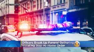 Lakewood Officers Break Up Large Funeral Gathering Violating New Jersey's Stay-At-Home Order [Video]