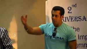Salman Khan Talks About Doing Charity, Fake Medical Reports Shown by People For Money [Video]