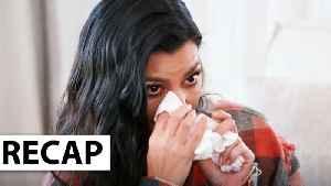 Kourtney Kardashian Cries After Fight With Khloe Kardashian & Scott Disick Reacts - KUWTK Recap [Video]