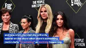 Kourtney Kardashian Is Taking a 'Big Step Back' From 'KUWTK' [Video]