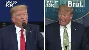 Timeline of Trump speaking on COVID-19 [Video]