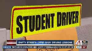 Student drivers take advantage of empty streets [Video]