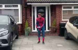 'Spider-Man' uses daily exercise time to cheer up locked-down kids [Video]