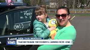 Teacher parade for students learning from home [Video]