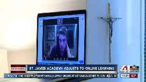 St. James Academy adjusts to online learning [Video]