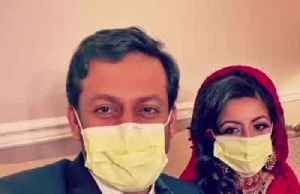 Two doctors alter wedding plans due to pandemic