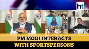 PM Modi interacts with sports stars, asks them to spread positivity [Video]