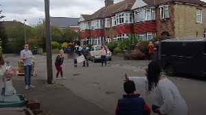 Neighbours rally round to sing happy birthday to seven-year-old boy [Video]