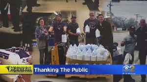 Police Thank People For Donations In Fight Against Coronavirus [Video]