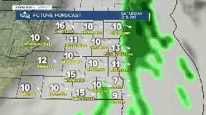 Warm temepratures Friday with rain overnight [Video]