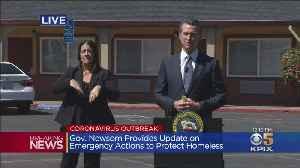 Gov. Newsom And Sacramento Mayor Steinberg Discuss Coronavirus Response To Protect The Homeless [Video]