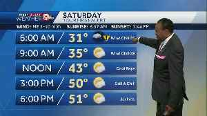 Cold start on Saturday, temps warm to low 50s [Video]