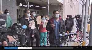 Coronavirus Update: Nurses Rally Outside Mount Sinai Hospital On Upper East Side [Video]