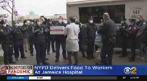Coronavirus Update: NYPD Delivers Food To Workers At Queens Hospital [Video]