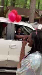 Family Surprises Girl With Car Parade on Birthday Amid Coronavirus Lockdown [Video]