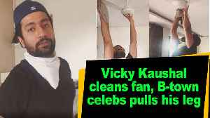 Vicky Kaushal cleans fan, B-town celebs pulls his leg [Video]