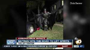 Batman hits the road to lift spirits [Video]