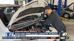 San Marcos auto shop helping essential workers [Video]