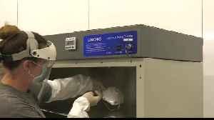 Johnson County Sheriff's Office crime lab sanitizing face masks [Video]