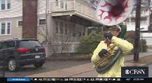 Tuba Player Keeps Watertown Neighborhood Smiling During Coronavirus Pandemic [Video]