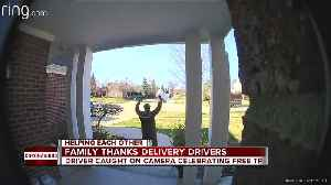 WATCH: Metro Detroit delivery driver jumps with joy at gift of toilet paper [Video]