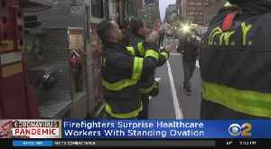 Coronavirus Update: Firefighters Surprise NYU Langone Hospital Staff With Show Of Support [Video]