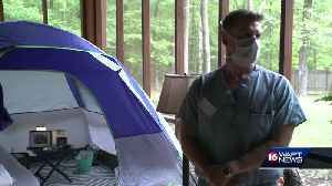 Doctor moves out of home into tent [Video]
