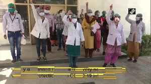 COVID-19 outbreak Nurses protest against Punjab govt over lack of PPEs [Video]