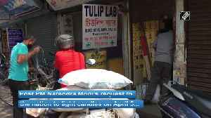 Candle sellers hopeful for pick up in sales after PM Modi appeal to Indians for April 5 [Video]