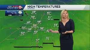 More sun, high near 50 Saturday [Video]