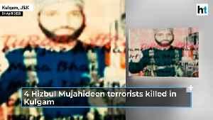 4 Hizbul Mujahideen terrorists killed in an encounter in Kulgam [Video]